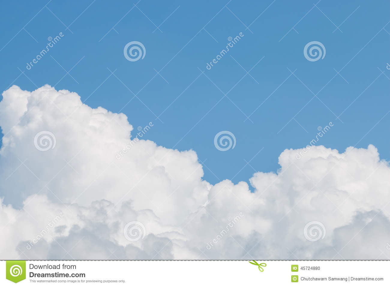 clouds and clear blue sky stock photography