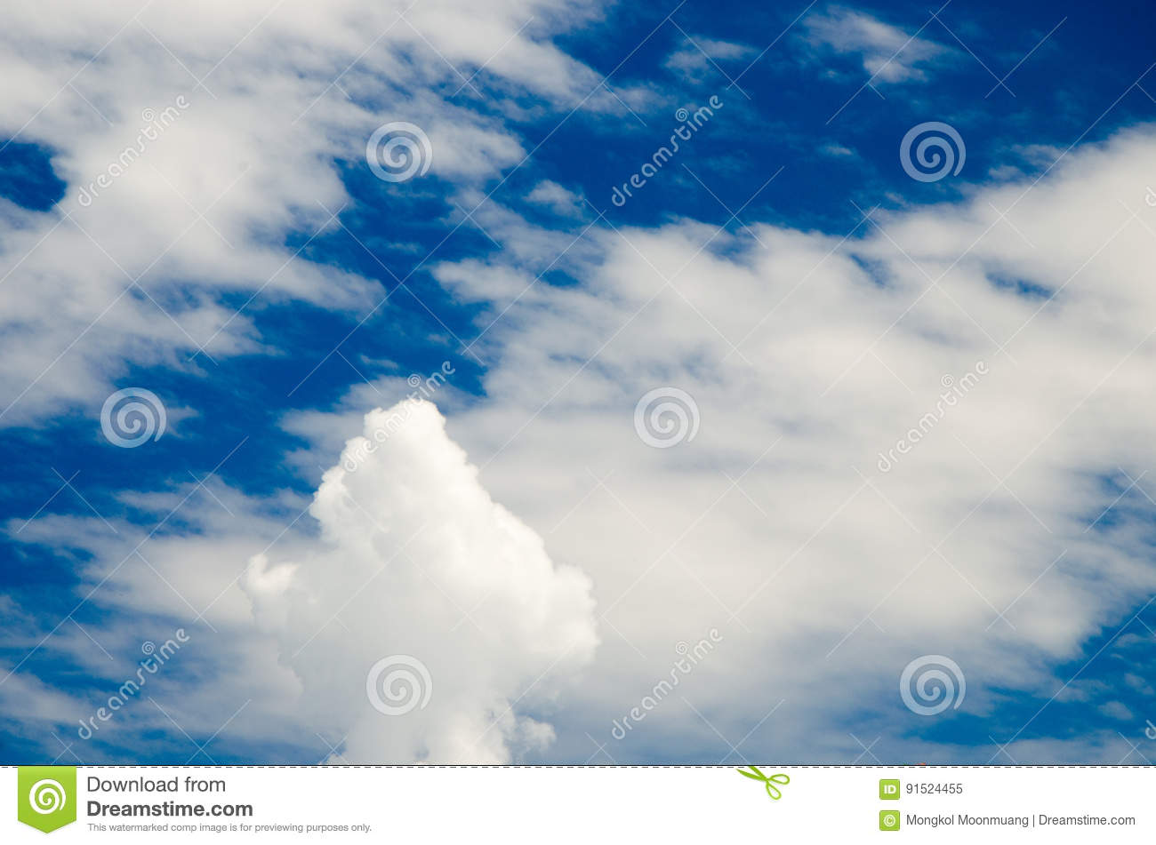 Clouds and deep blue sky