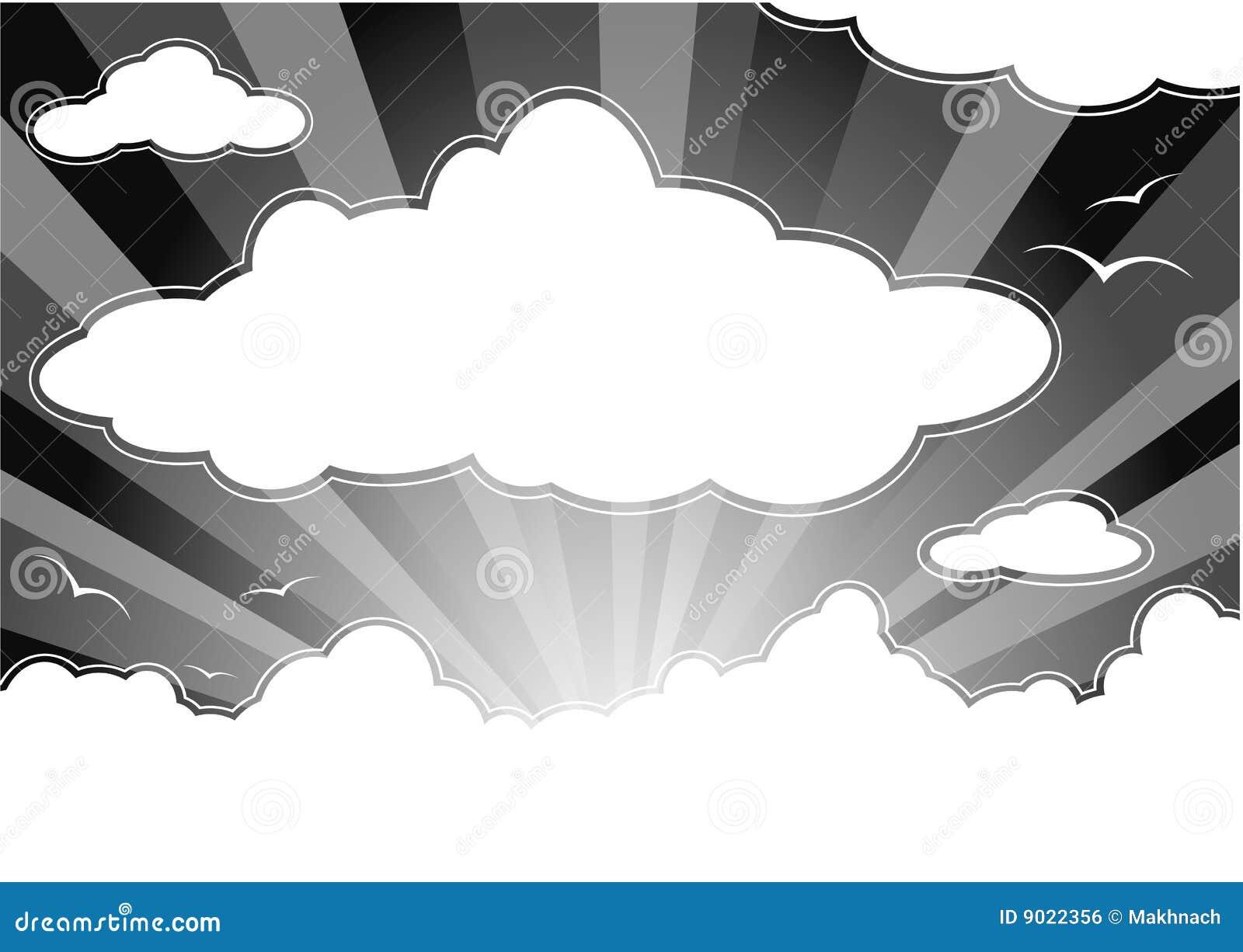 Clouds den mörka skyen