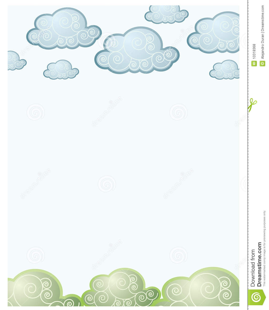 Clouds and grass back