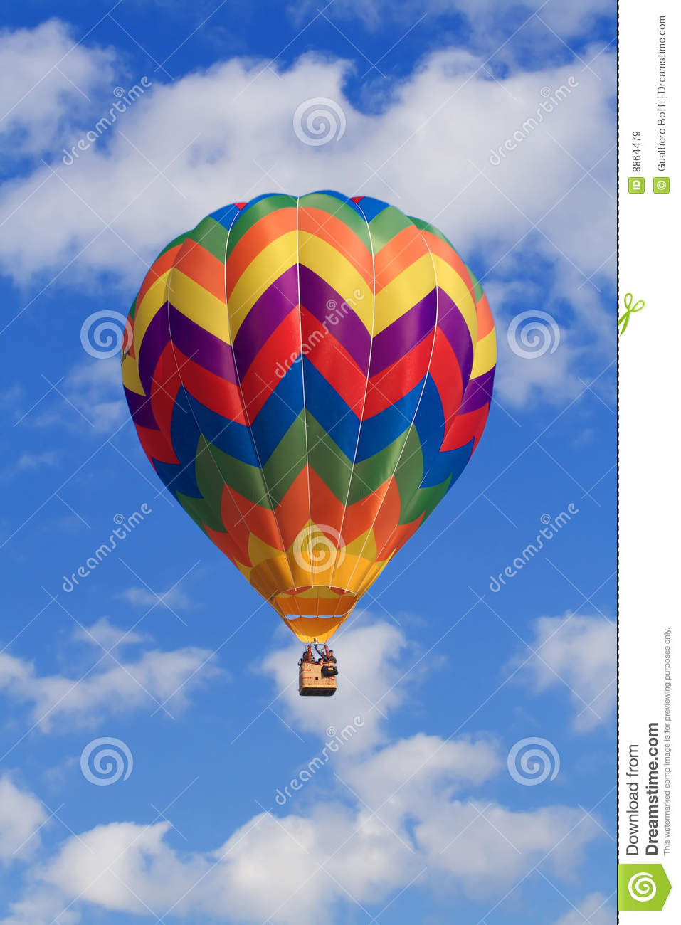 Clouds and hot air balloon royalty free stock images for Silver cloud balloons