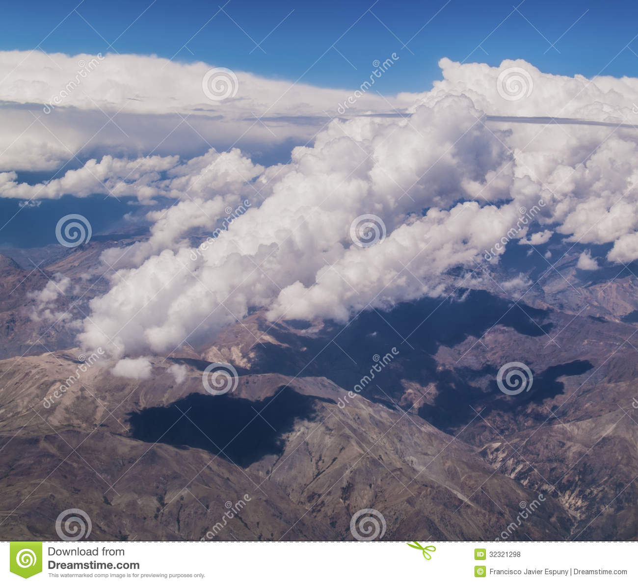 plane clouds and mountains - photo #28