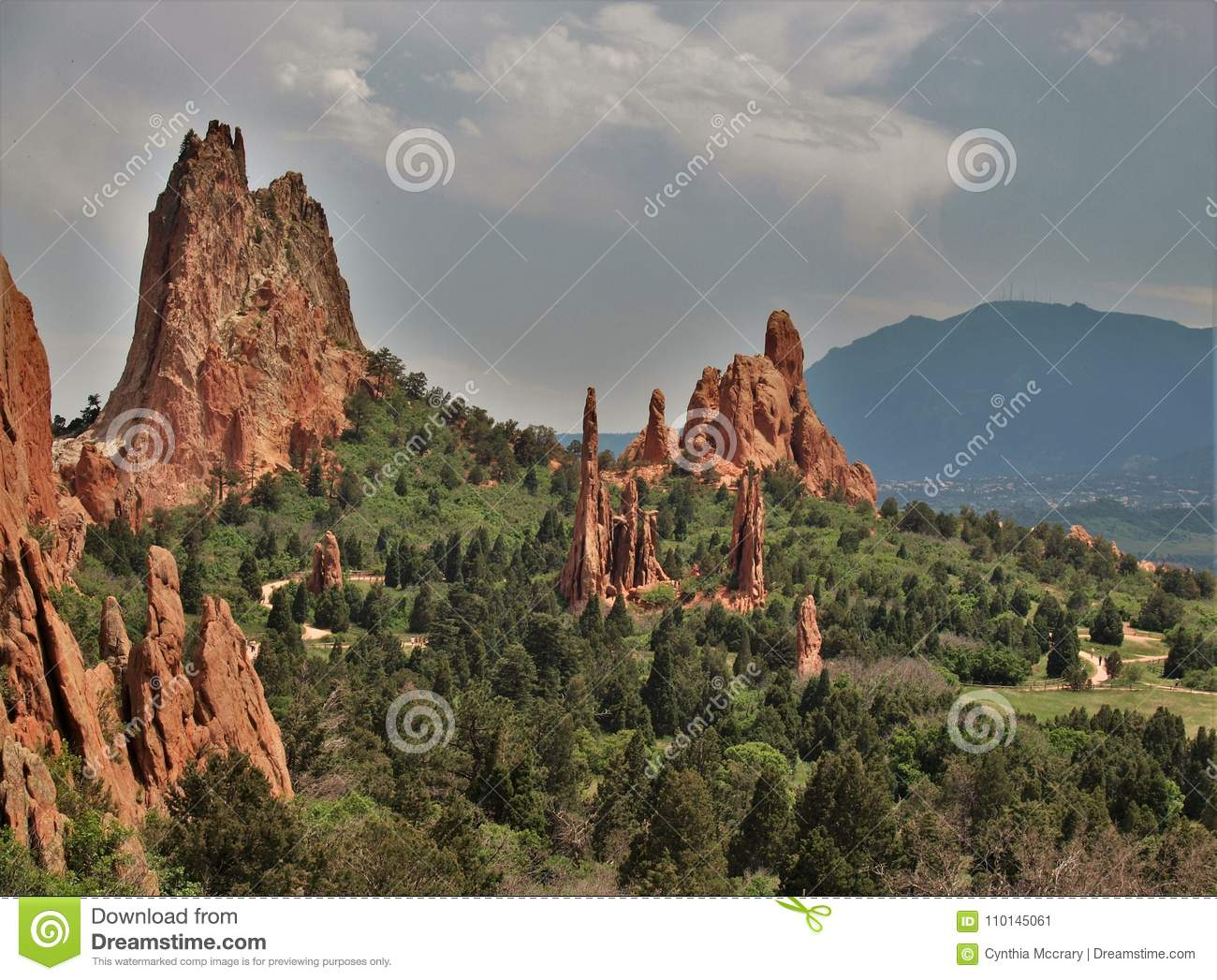 Clouds Over Garden Of The Gods Stock Image - Image of national ...