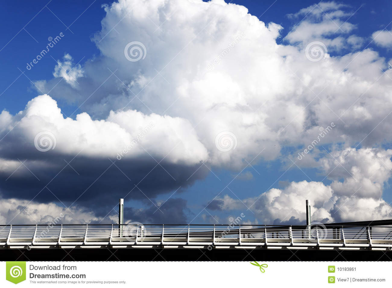 Clouds in sky with bridge