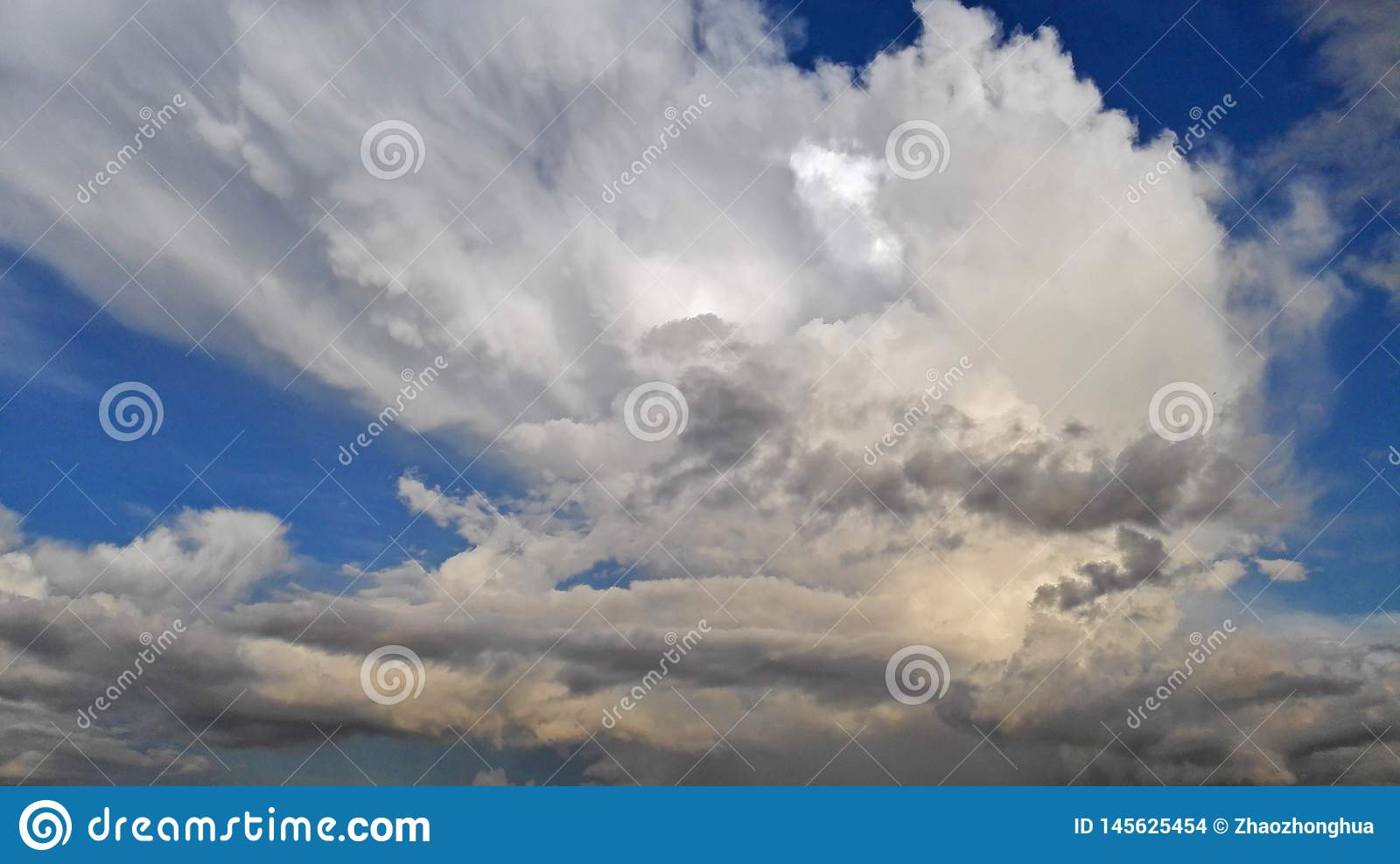 The clouds the sky
