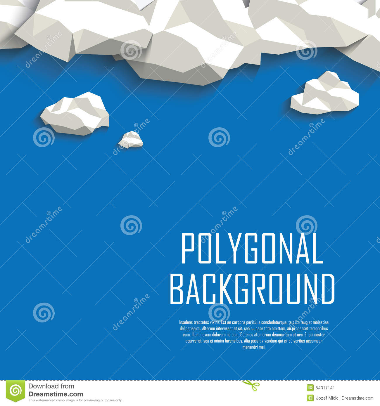 Stock Illustration Clouds Sky Polygonal Background Low Poly Abstract Concept Blank Space Your Text Eps Vector Illustration Image54317141 on Thank You Card Modern Graphics Cards For