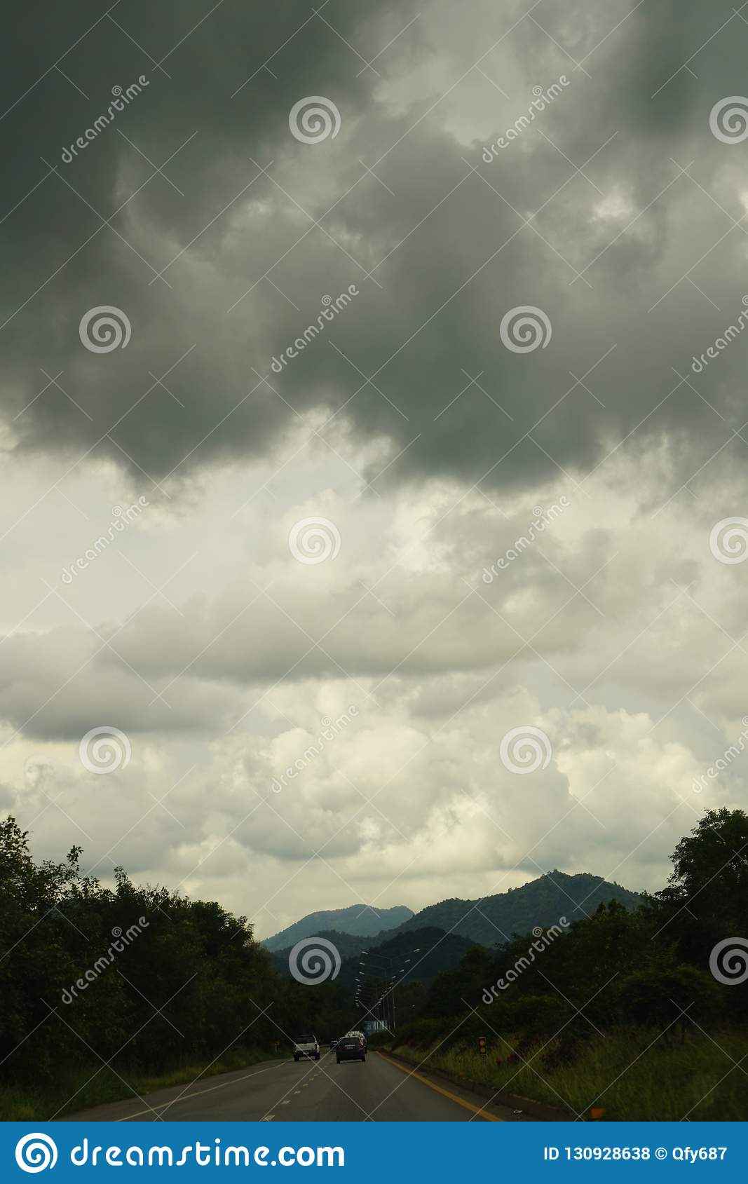Clouds in the sky. Prelude to the storm