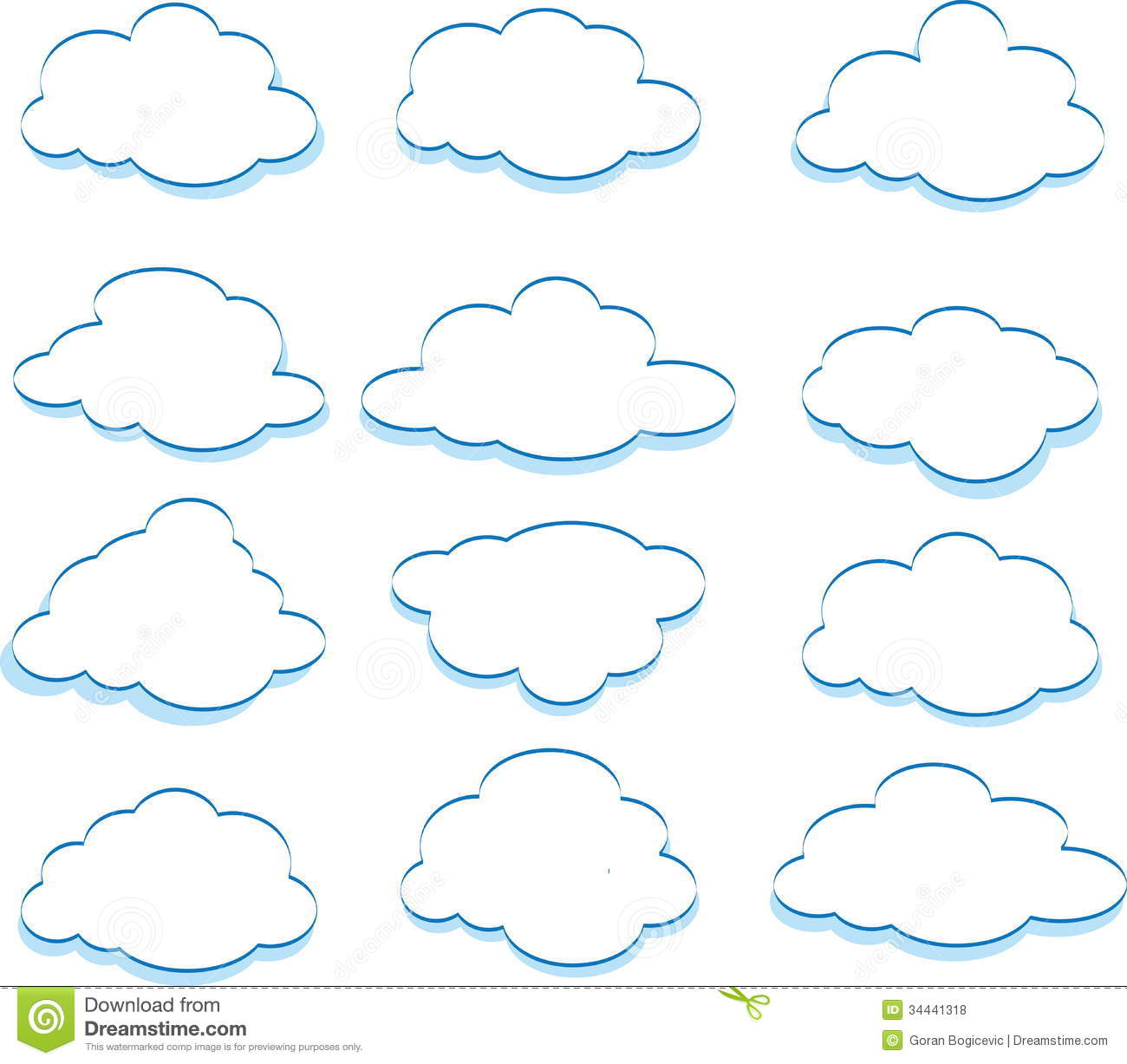 Line Art Vector Tutorial : Clouds stock vector image of environment beautiful