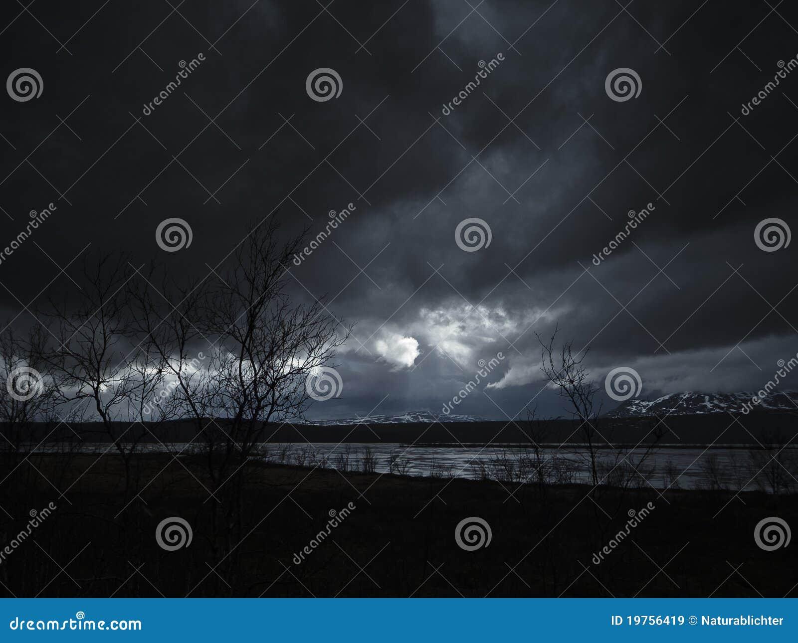 Cloudscape黑暗晚上
