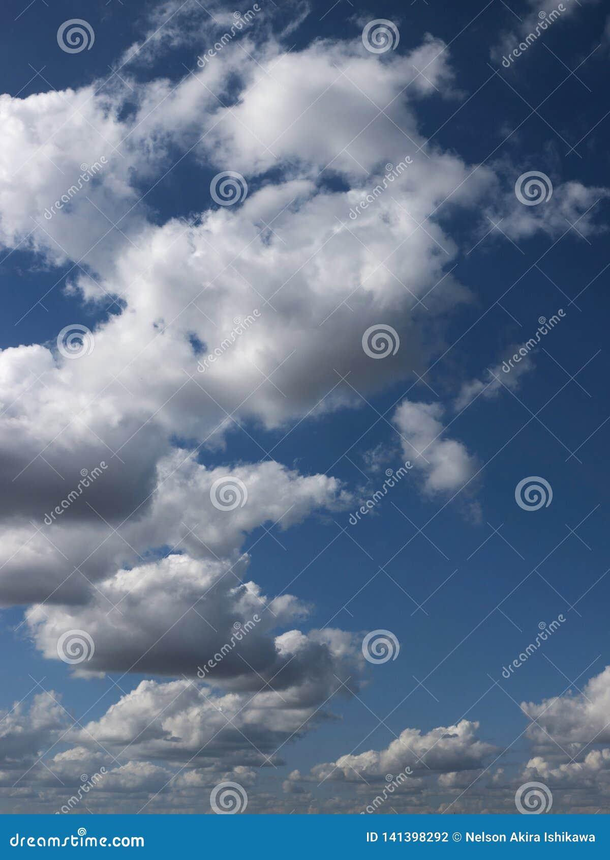 Cloudscape cloud blue backgrounds nature summer outdoors midair scene