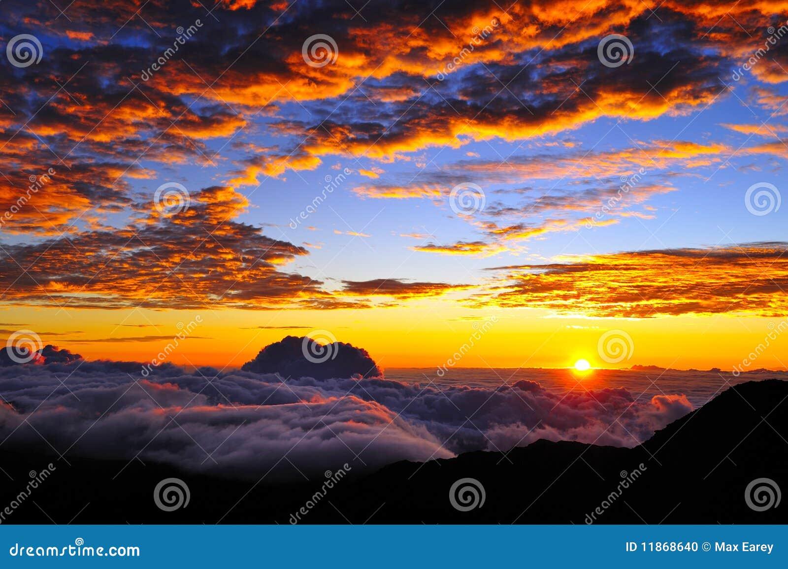 Cloudscapesolnedgång