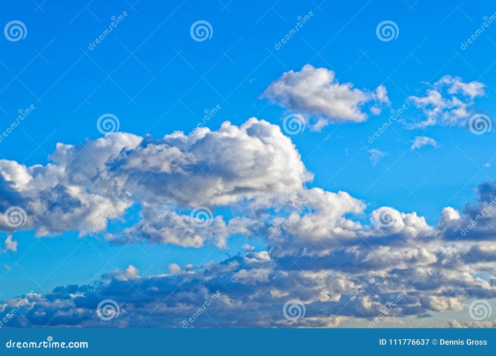 Cloudy blue sky over Hamburg