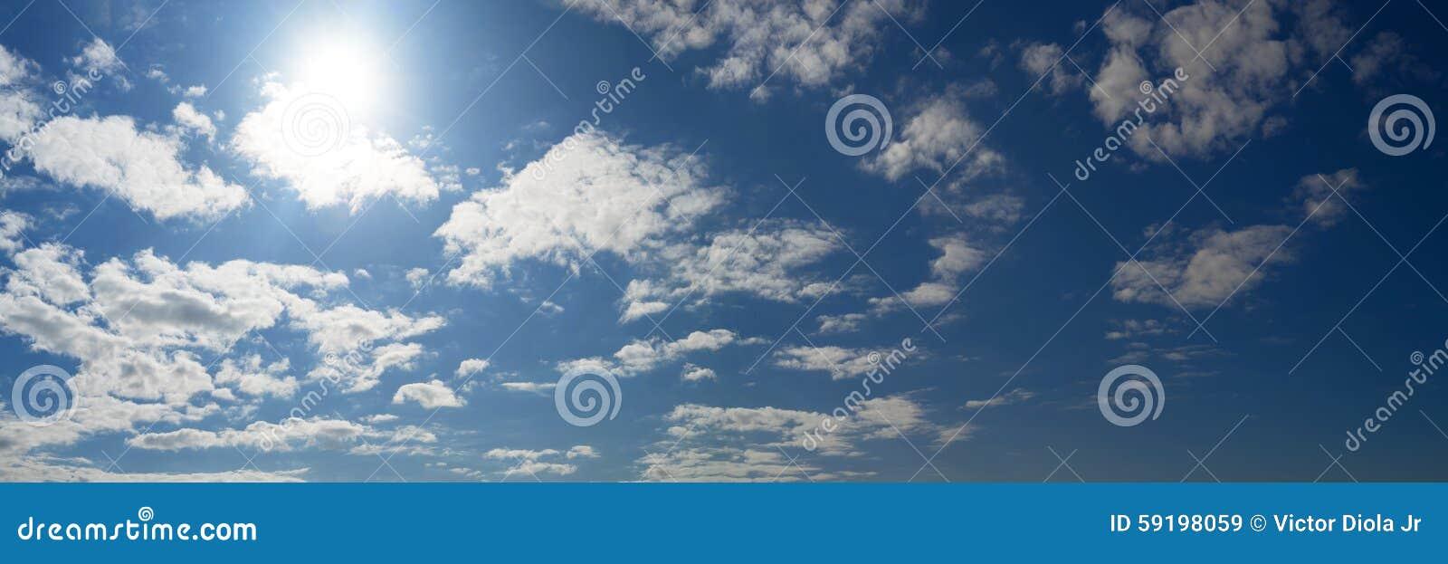 Cloudy Blue Sky Panorama Stock Photo - Image: 59198059