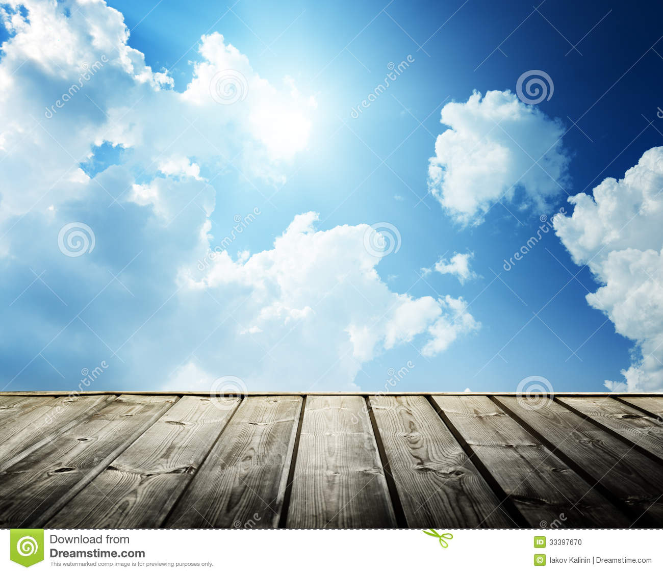 Cloudy Blue Sky And Wood Stock Photo Image Of Shine