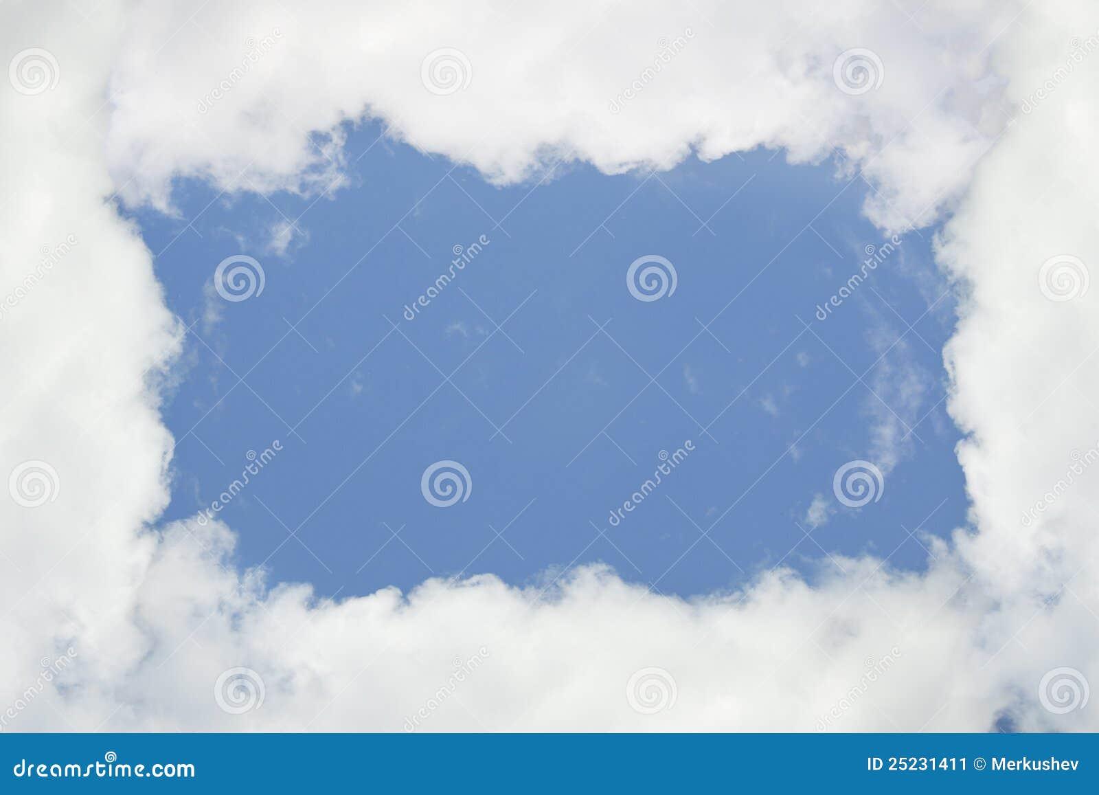 Cloudy frame, blue sky stock image. Image of positivity - 25231411