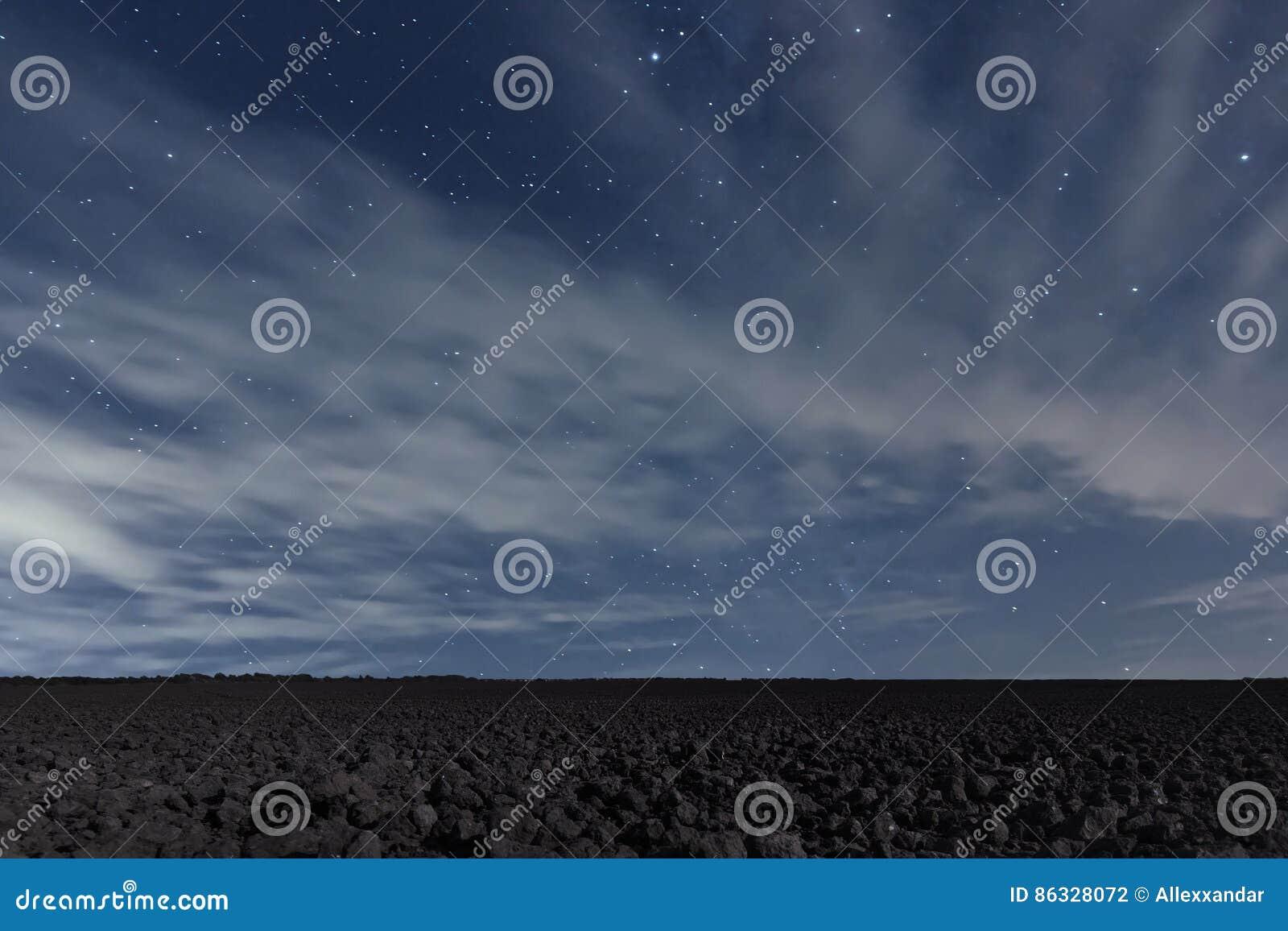 Cloudy Night Sky Stars Cloudy Night Sk...