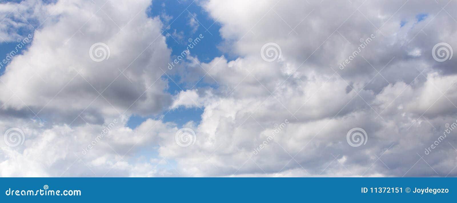 Cloudy Sky Panorama Stock Image - Image: 11372151