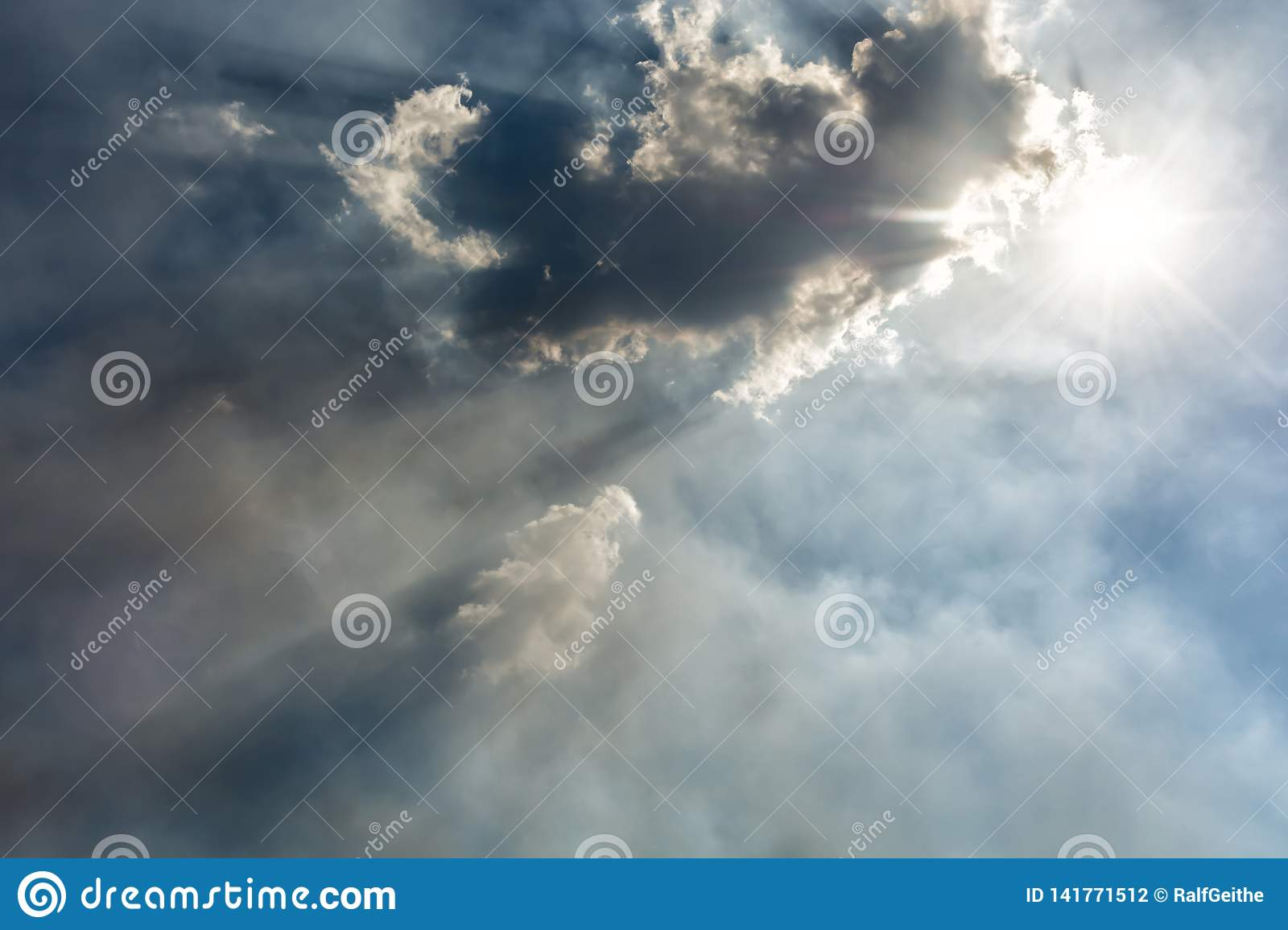 Sunshine clouded by clouds and smog