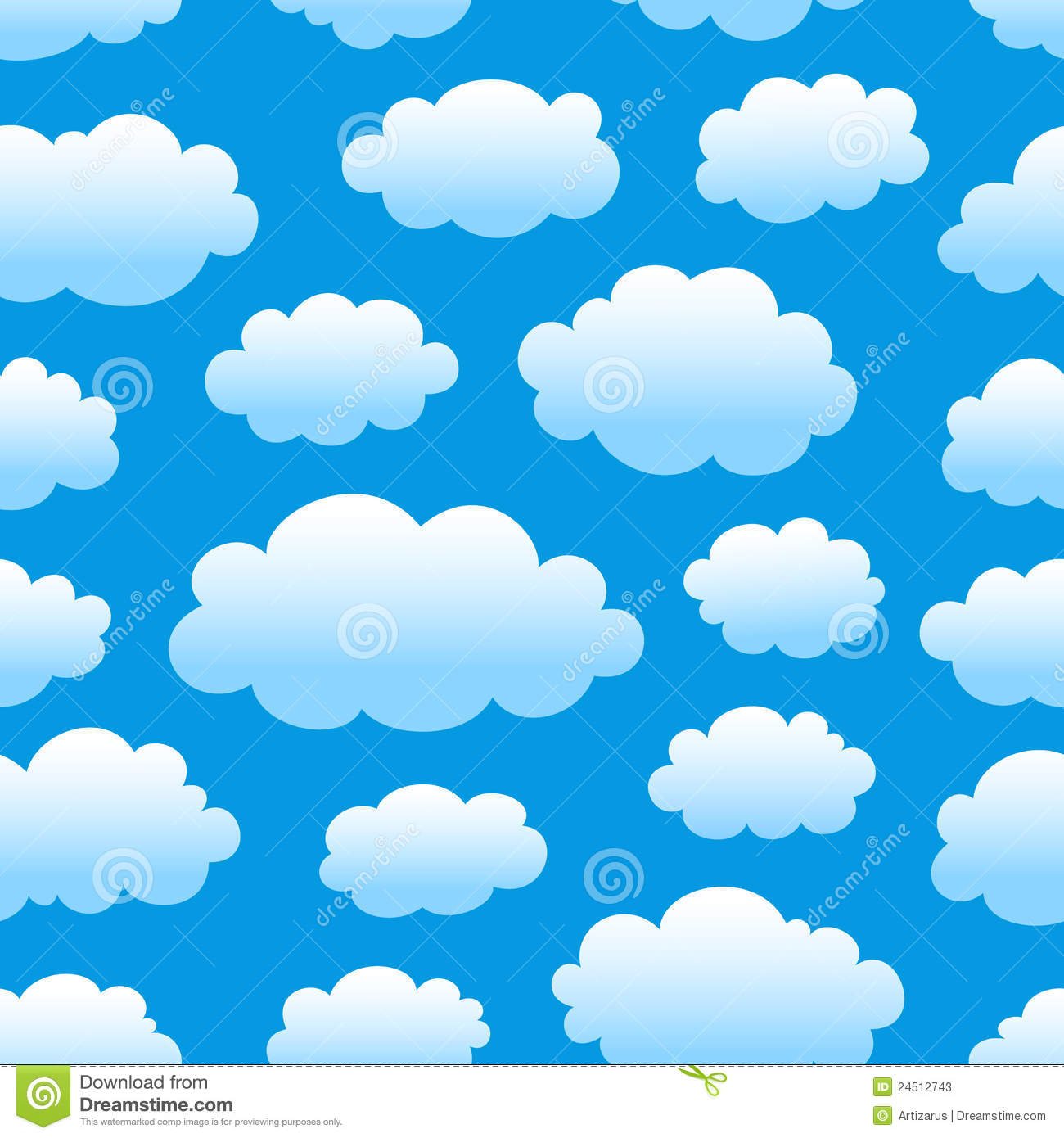 Cloudy Sky Pattern Stock Photos - Image: 24512743
