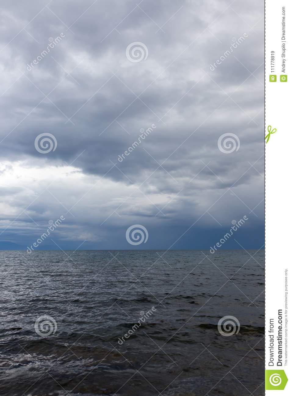 Cloudy weather on the sea as background