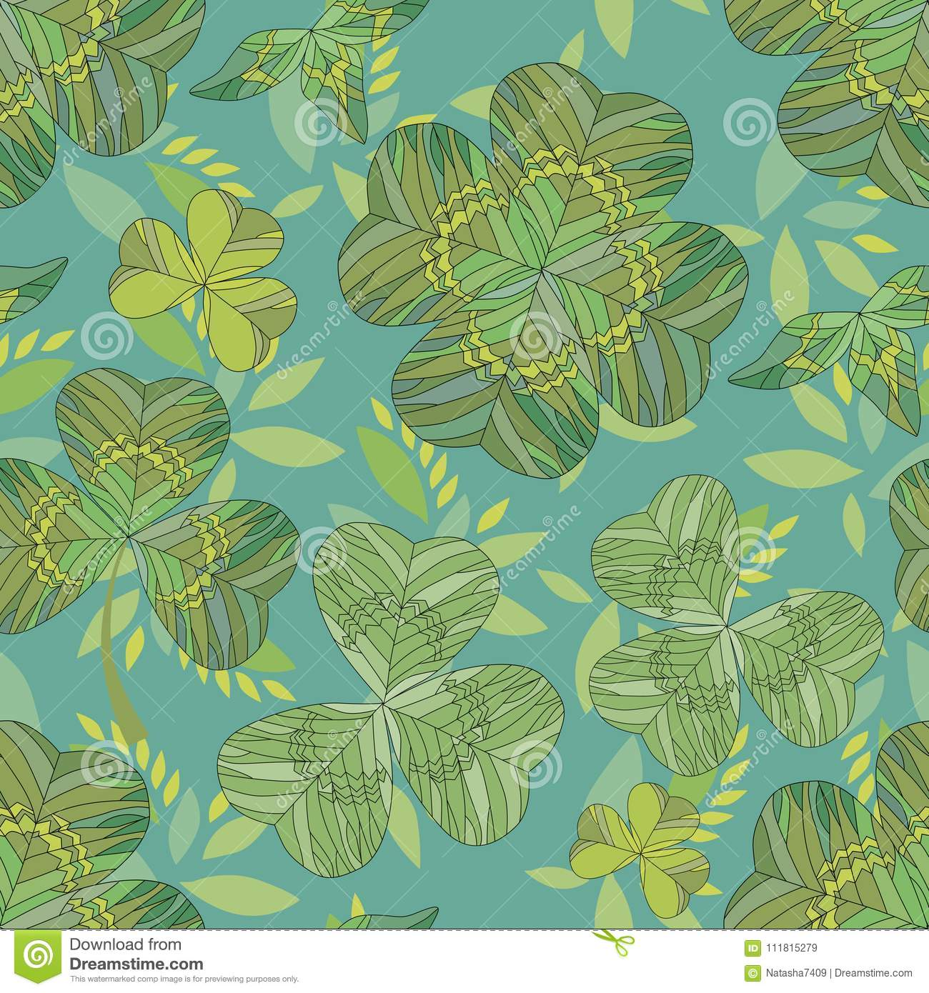 Clover background. Seamless pattern.