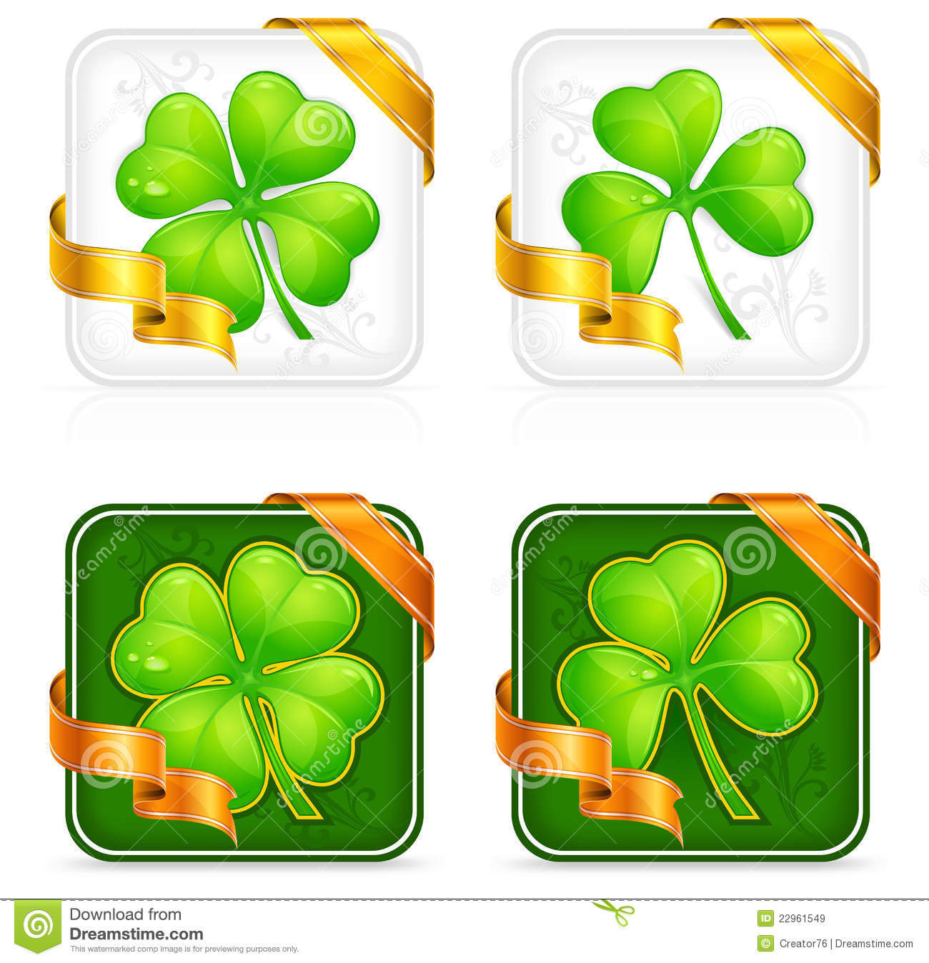 Clover Button Royalty Free Stock Images