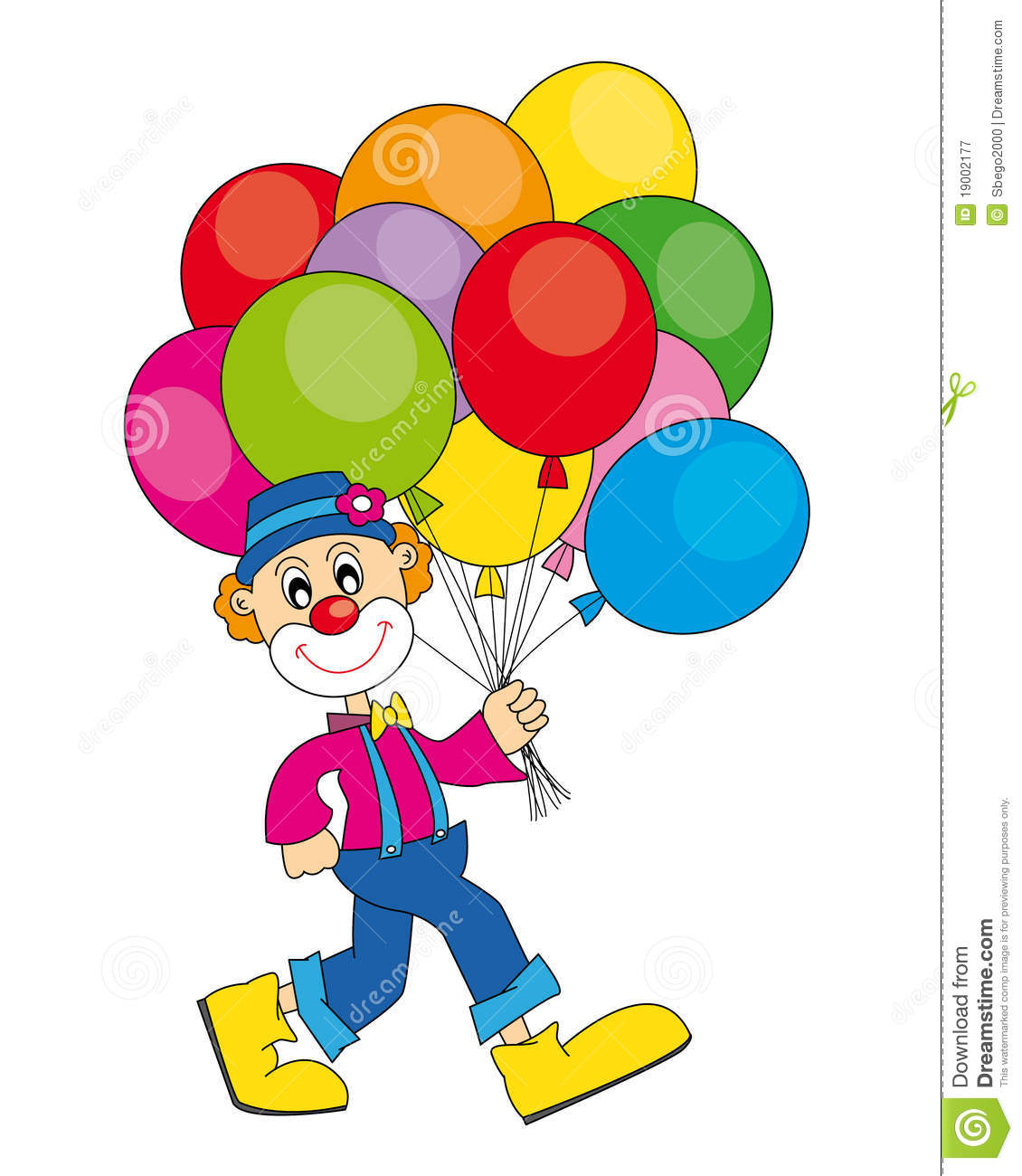 Clown With Balloons Royalty Free Stock Photography Image 19002177