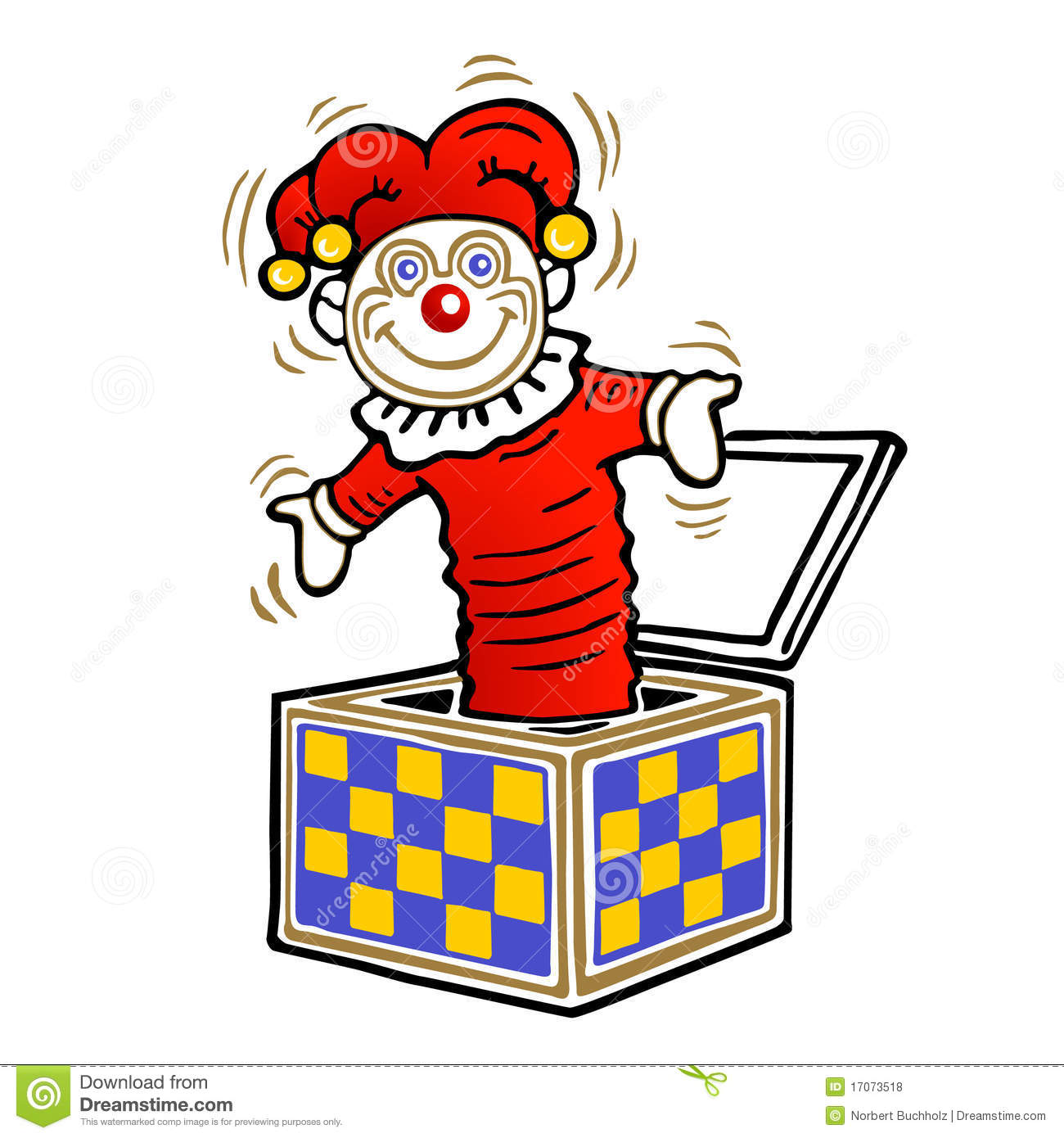 Clown In The Box Royalty Free Stock Photos - Image: 17073518