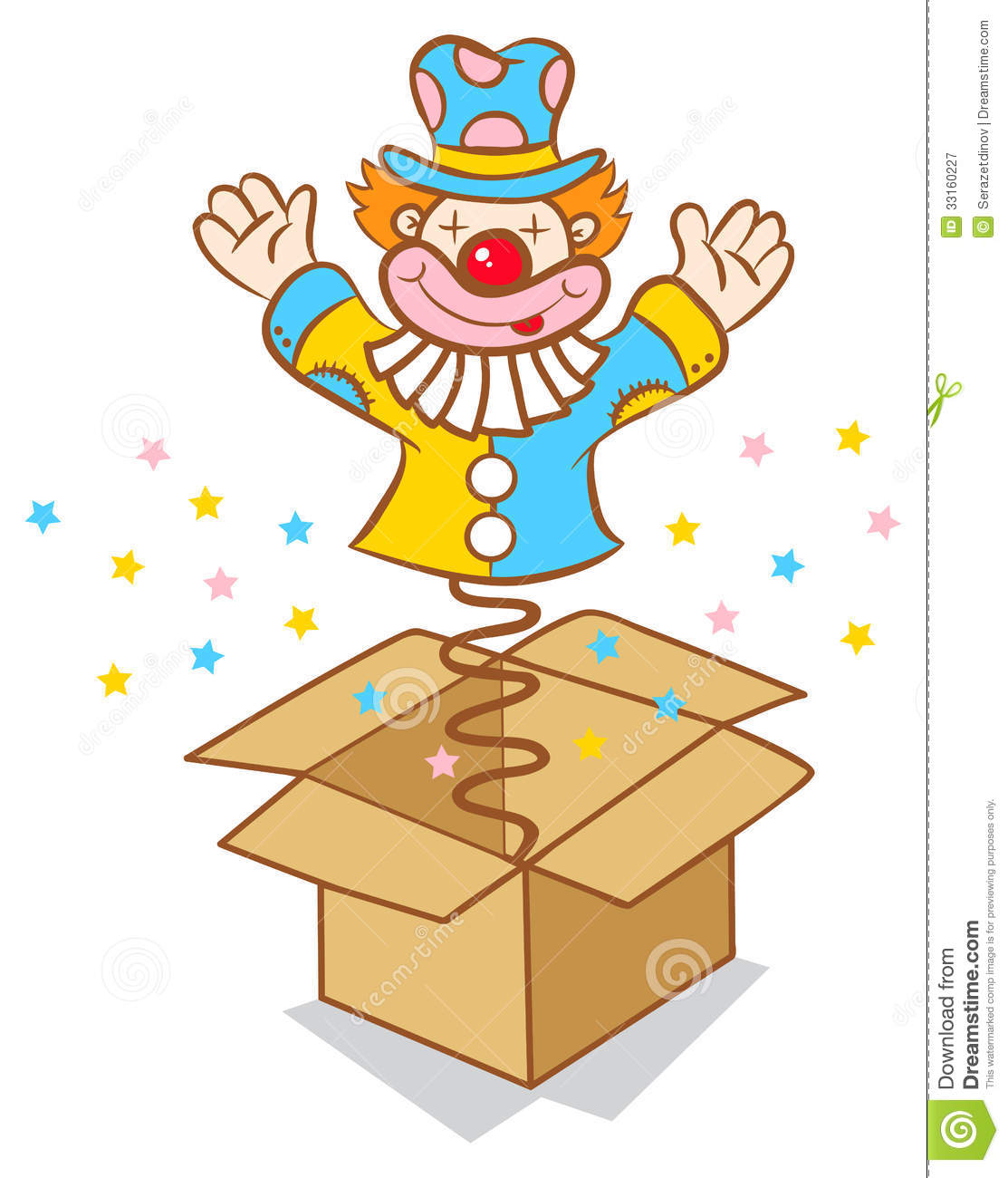 Clown From Box Royalty Free Stock Photography - Image ...