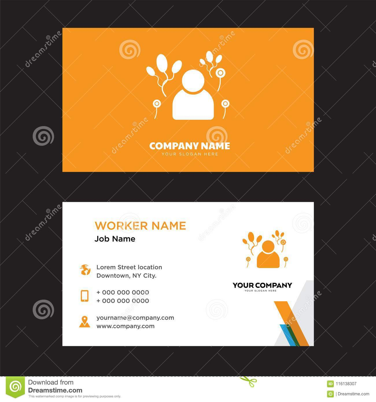Clown business card design editorial photography illustration of clown business card design template visiting for your company modern horizontal identity card vector colourmoves
