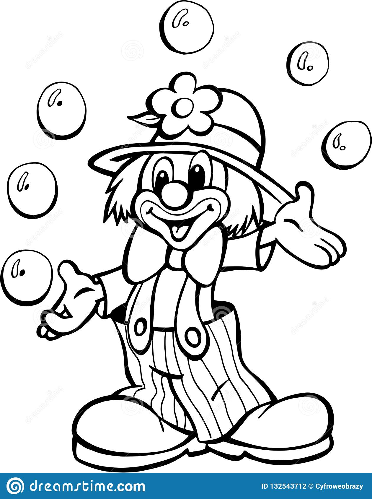 Clown From Circus Stock Illustration Illustration Of