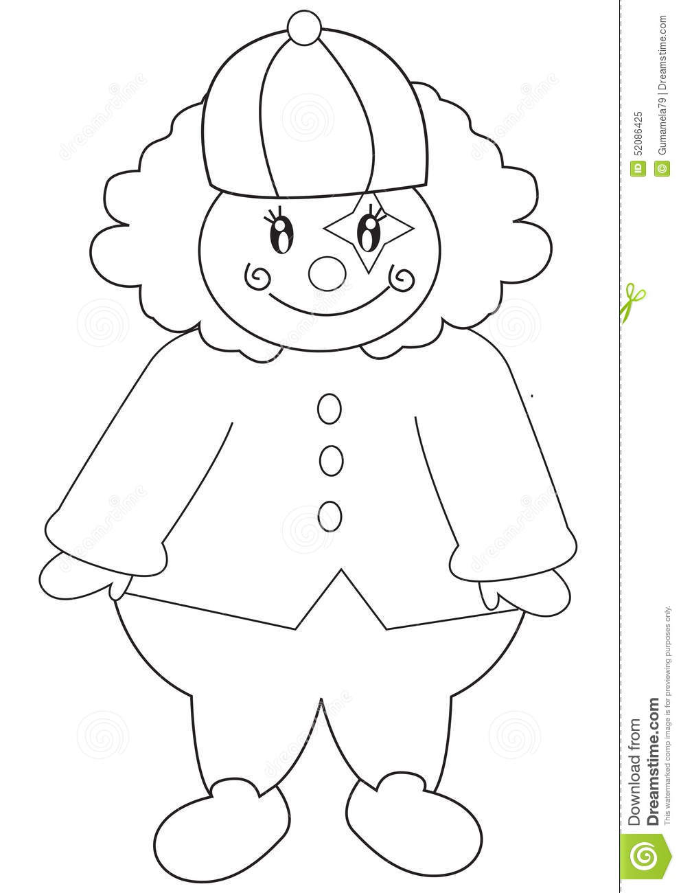 Clown Coloring Page Stock Illustrations – 148 Clown Coloring Page ...