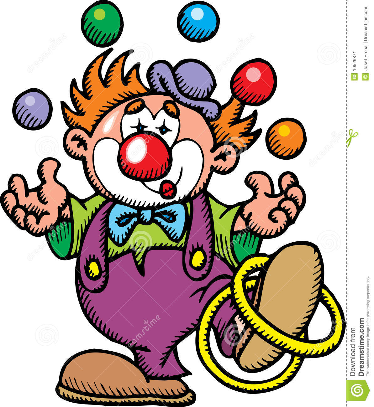 Clown de couleur illustration de vecteur illustration du farceur 10526871 - Comment dessiner un monstre qui fait peur ...