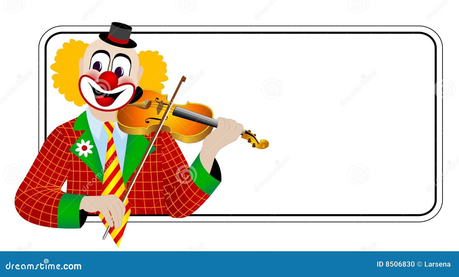 Clown de violist