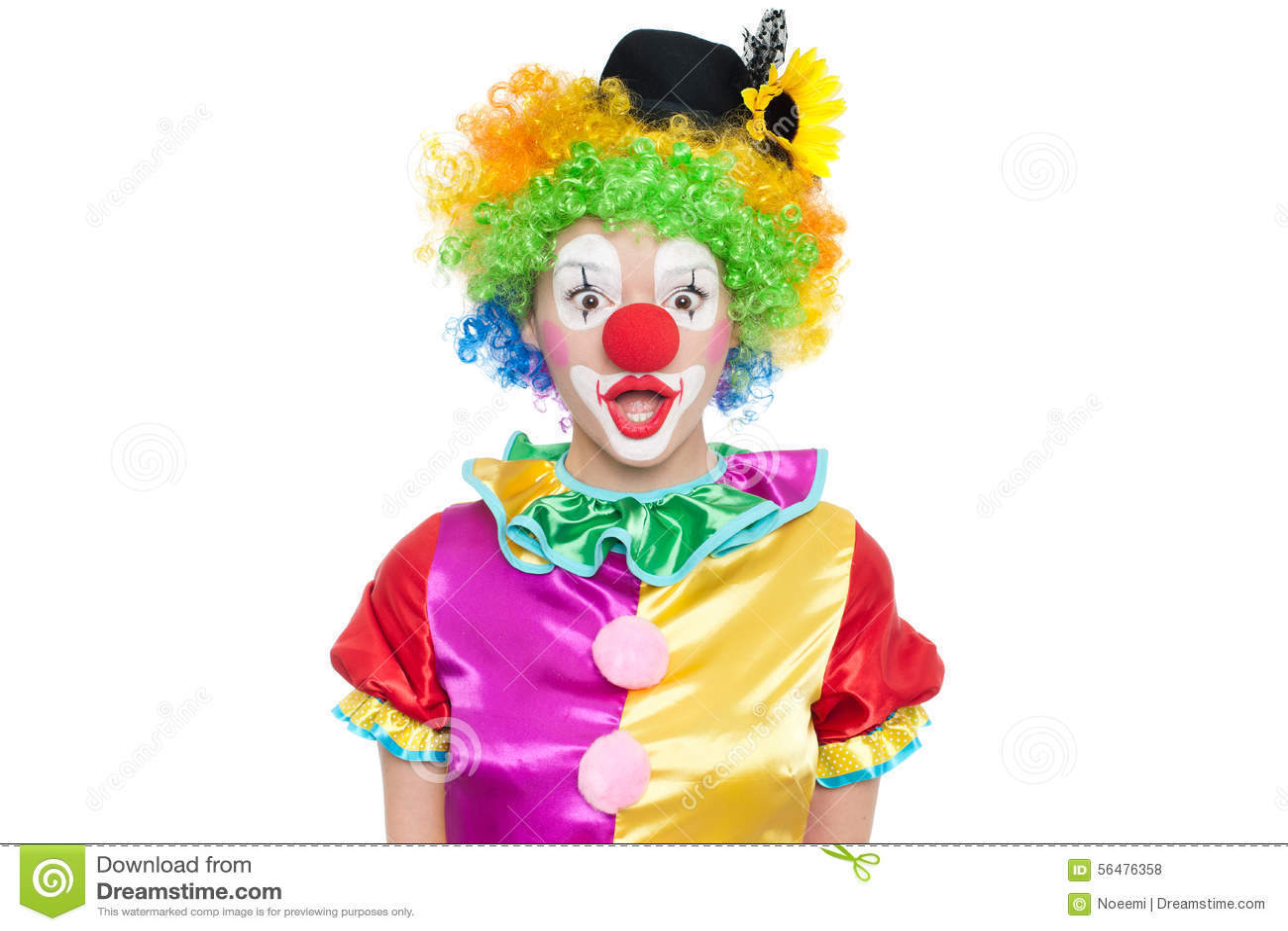 Clown drôle - colorfullportrait