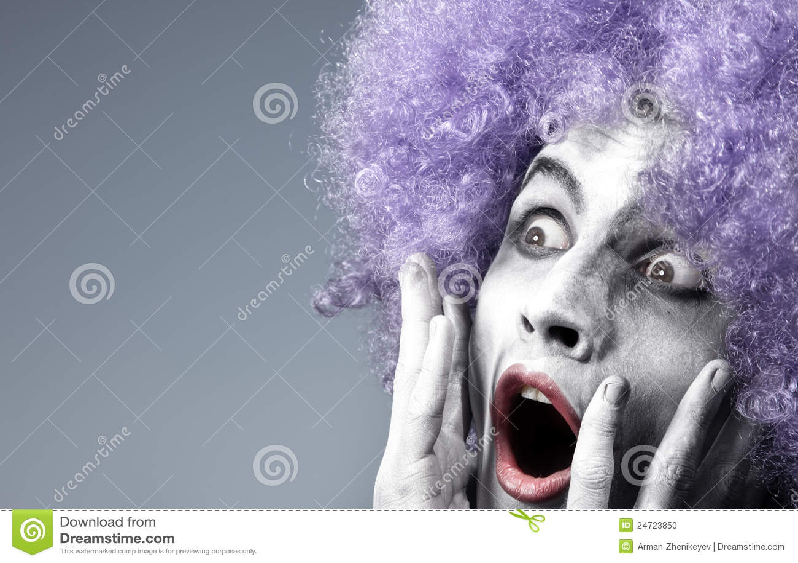 Clown effrayé