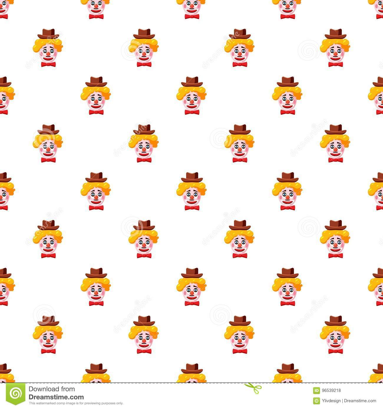 Clown Face With Hat Pattern Stock Vector - Illustration of ... d5dd46ae6b7