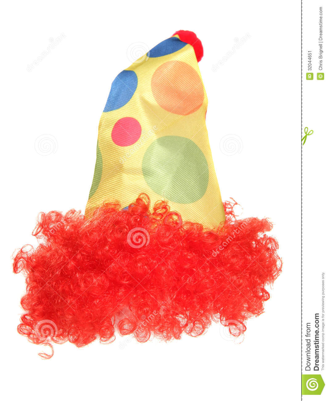 Clown Fancy Dress Hat And Wig Stock Image - Image of costume 39aefe106