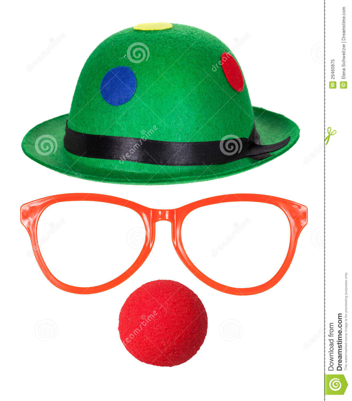 Clown Hat With Glasses And Red Nose Royalty Free Stock Photo - Image ...