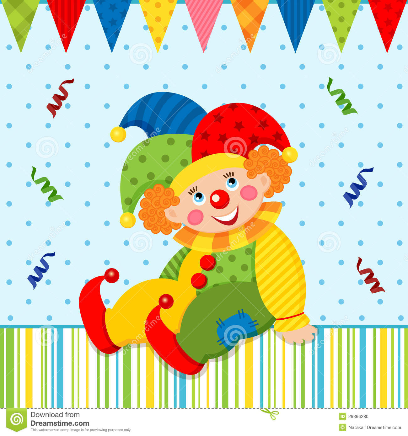 Clown Joker Vector Stock Photo - Image: 29366280