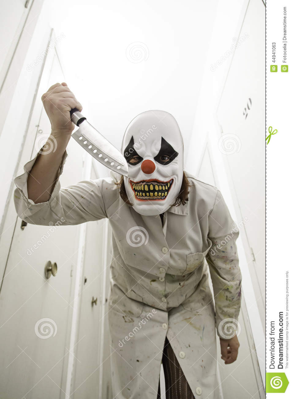 Clown knife gown stock image. Image of mysterious, murderer - 44941063