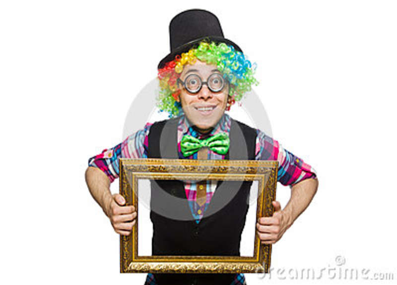 Clown lokalisiert