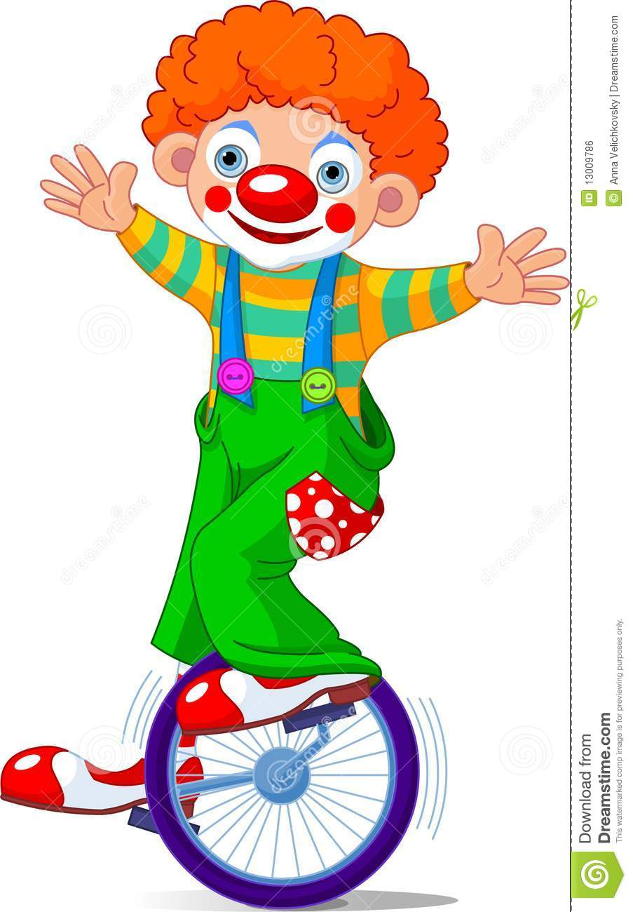 Clown op Unicycling