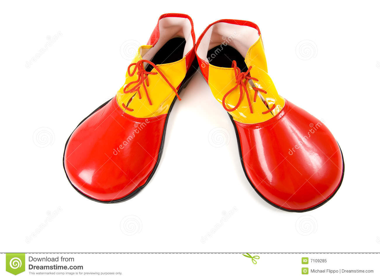 Red And White Clown Shoes