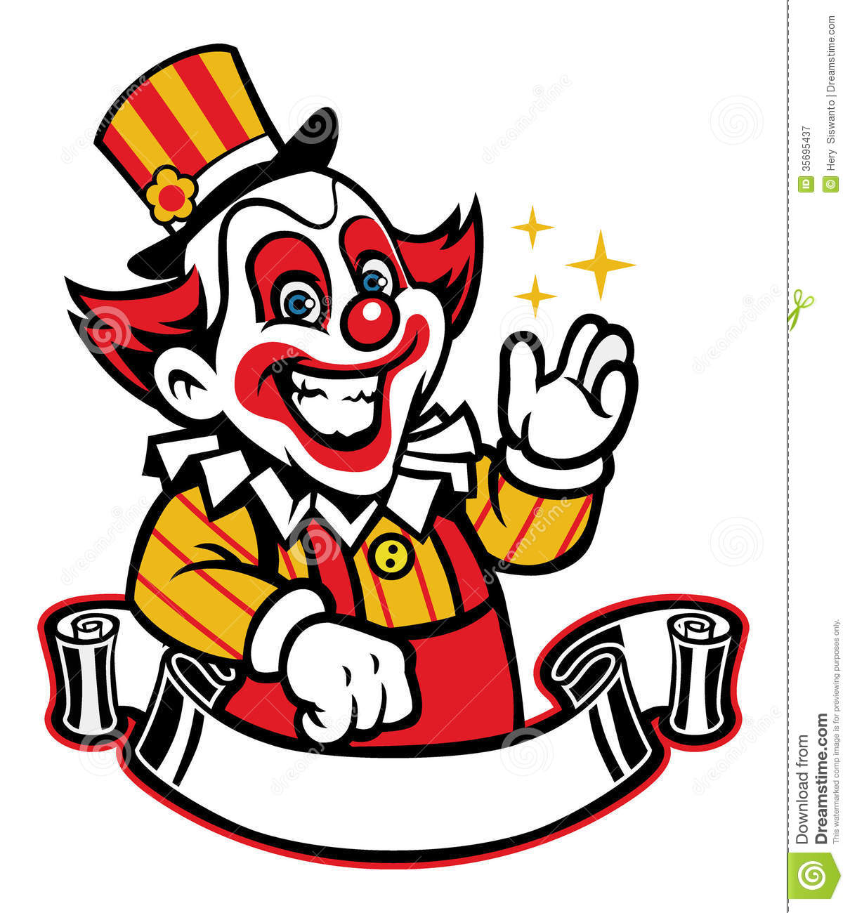 clown royalty free stock photography image 35695437 clipart clown gratuit crown clipart free