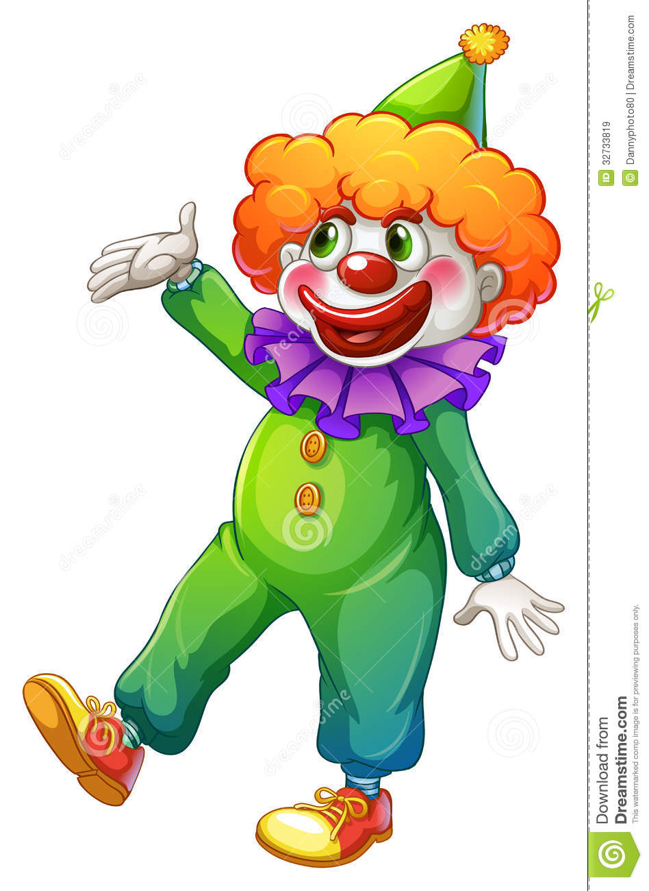 A clown wearing a green costume royalty free stock images for A clown fish