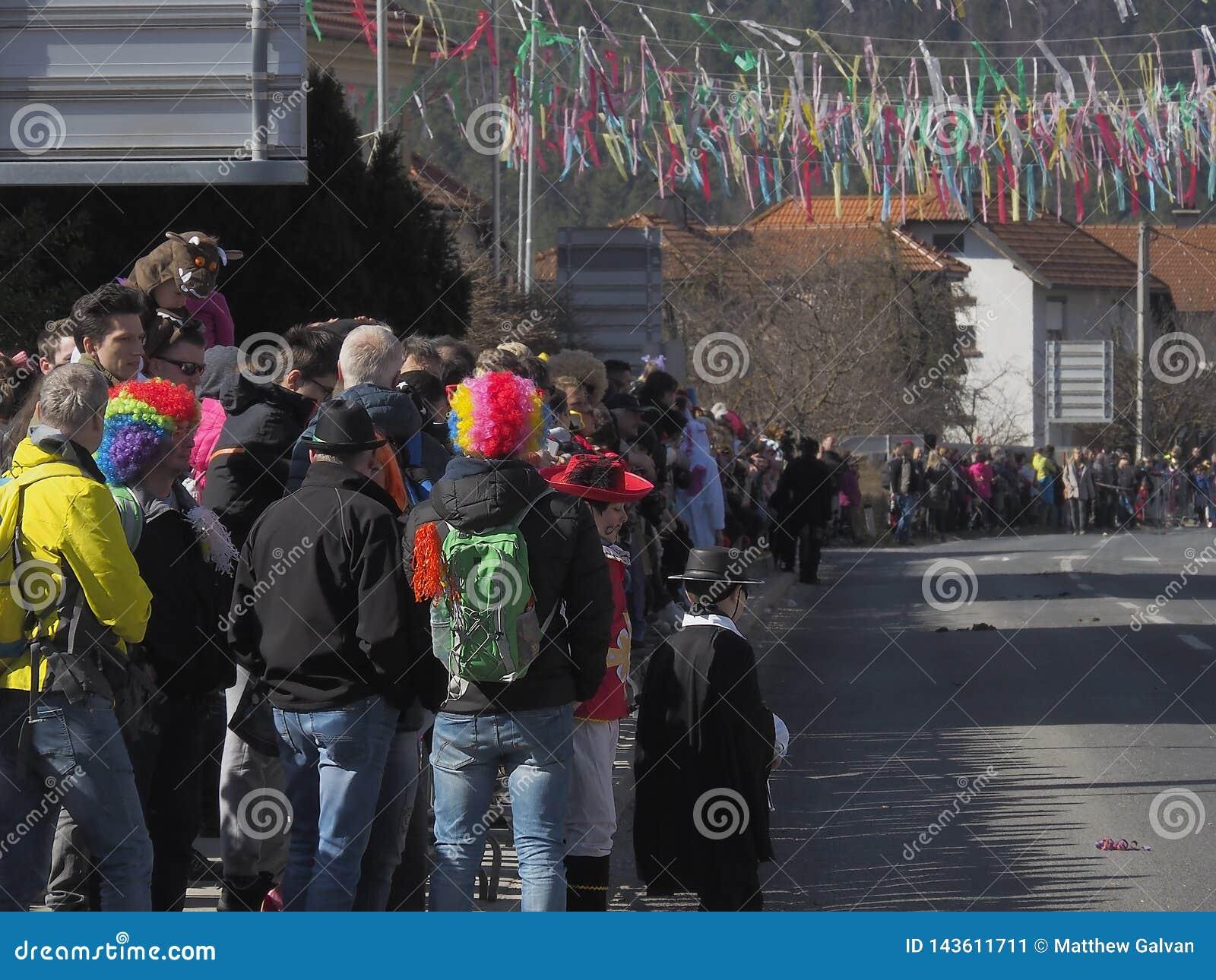 Clown wigs at parade