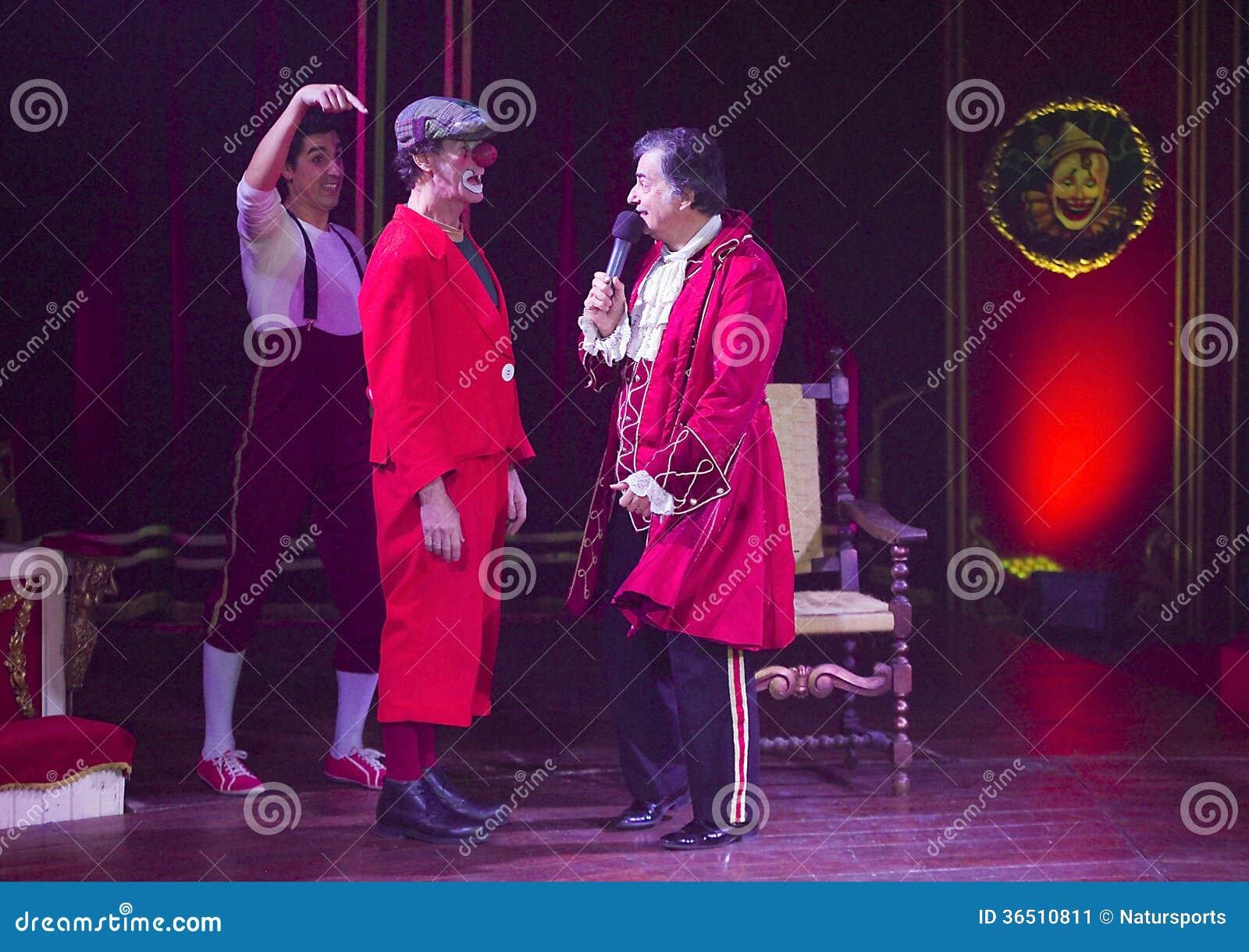 Clowns au spectacle de cirque