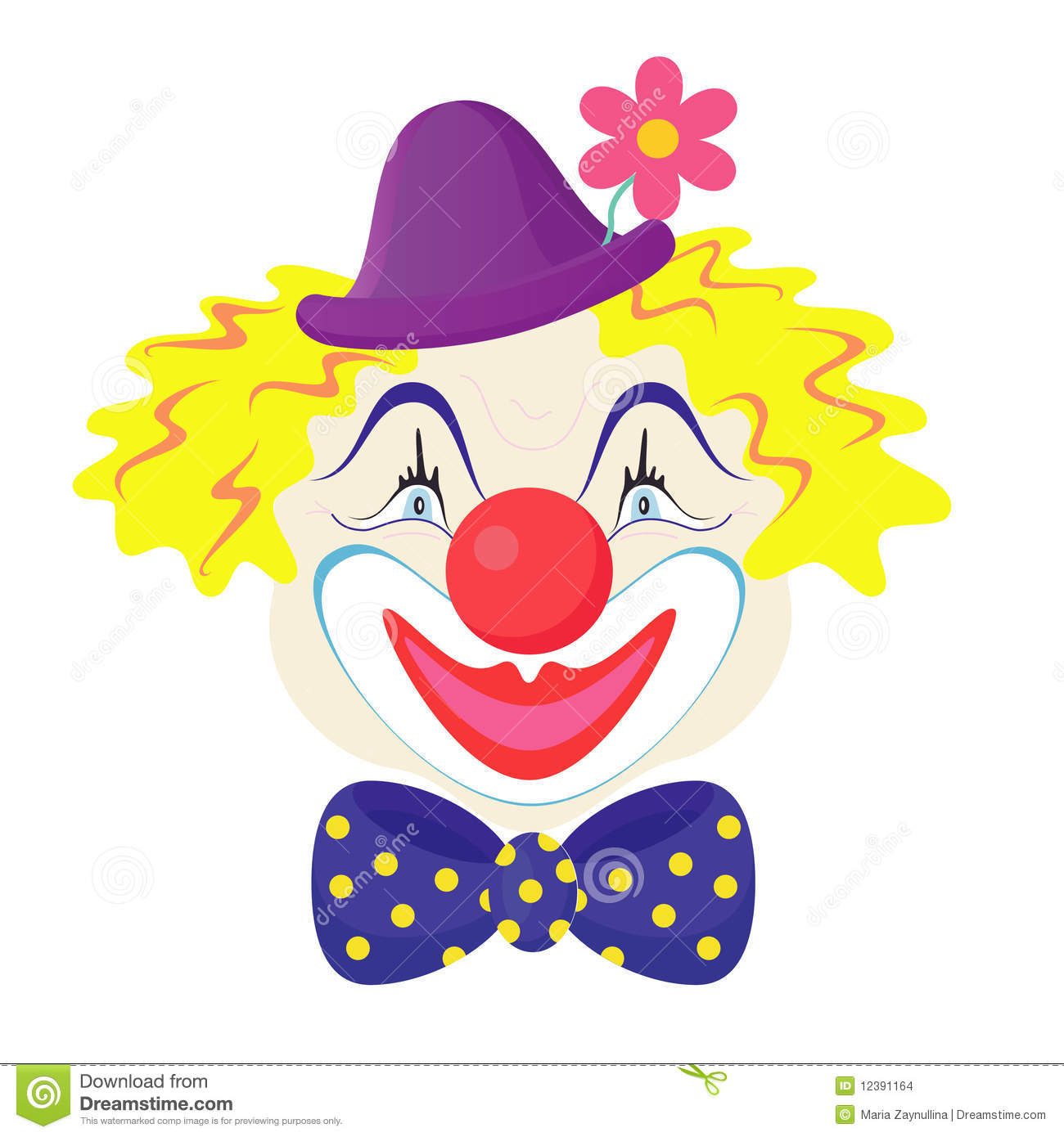 the clowns face stock images image 12391164