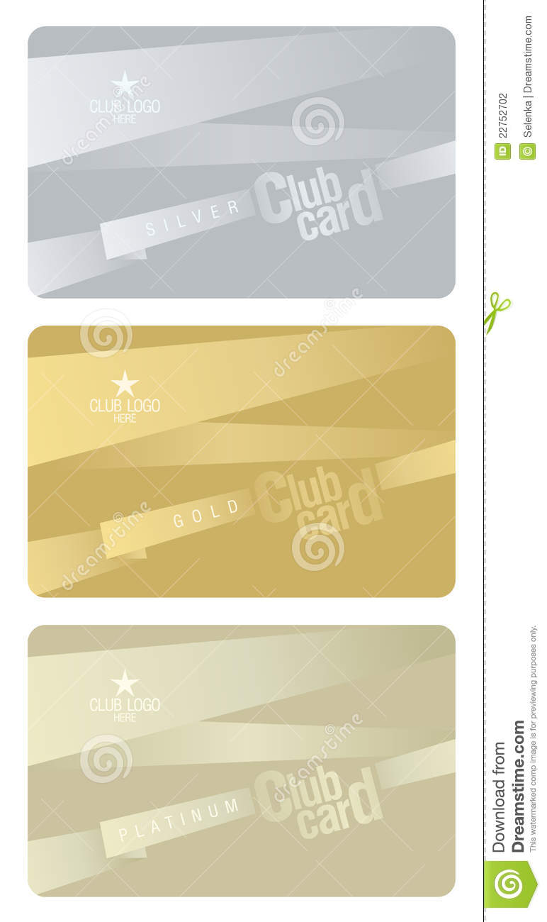 Club Card Design Template Stock Photography Image 22752702